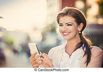 Beautiful woman - Attractive young businness woman with...