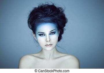 Beautiful woman studio shot