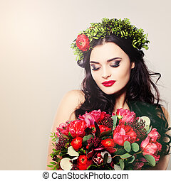Beautiful Woman. Summer Beauty Portrait