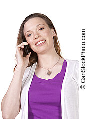 Beautiful Woman Talking on the Cell Phone