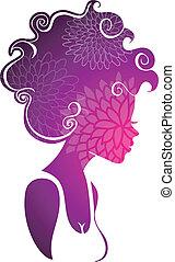 Beautiful woman - Vector illustration (eps 10) of Beautiful...