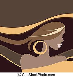 Beautiful Woman. Vector illustration.