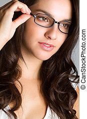 Beautiful Woman Wearing Glasses