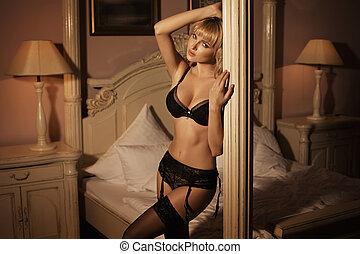 Beautiful woman weraing sexy lingerie