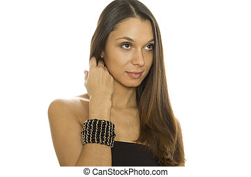 Beautiful woman with a bracelet