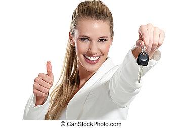beautiful woman with a keys car - beautiful woma with a keys...