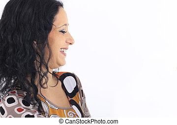 beautiful woman with dark hair
