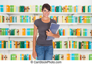 Beautiful Woman With Folder