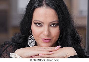 Beautiful woman with jewellery