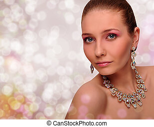 Beautiful woman with jewelry