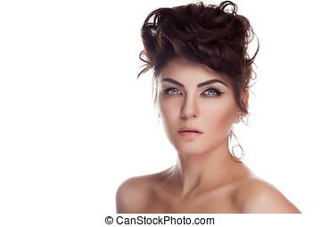 Beautiful woman with natural make up