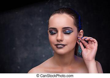 Beautiful woman with nice jewellery