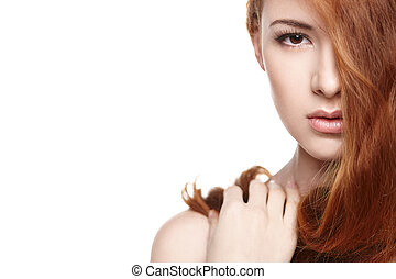 Beautiful woman with red hair - Beautiful red headed woman...