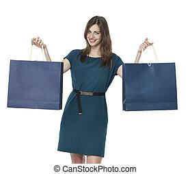 Beautiful woman with shopping bags