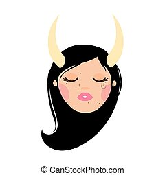 beautiful woman with taurus zodiac sign