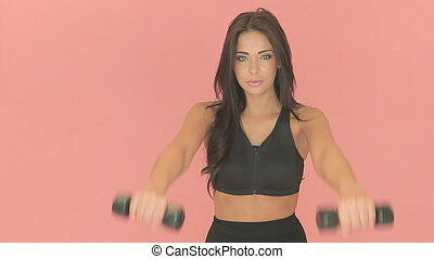 Beautiful woman working out