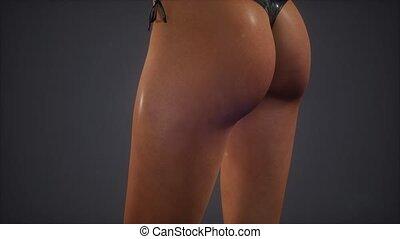 Beautiful woman's body in sexy bikini
