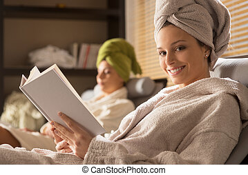Beautiful women at spa