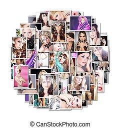 beautiful women collage