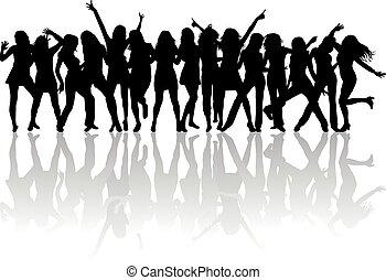beautiful women dancing
