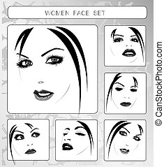 beautiful women faces collection