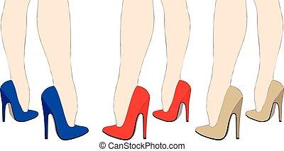 Beautiful women legs in high heels