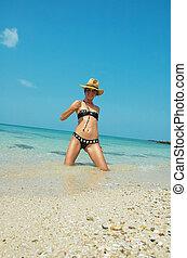 Beautiful women on the beach