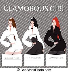 Beautiful women set
