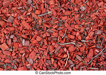 Wood chips - Beautiful Wood chips splendid in red texture