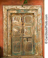 Beautiful wooden door seen in Mexico