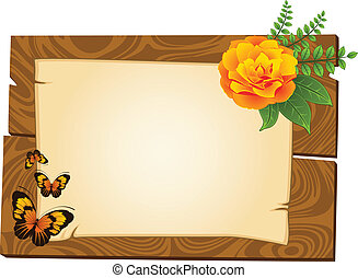 wooden pointers with flowers - beautiful wooden pointers...