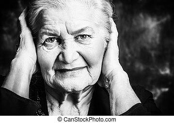 beautiful wrinkles - Portrait of a beautiful smiling senior...
