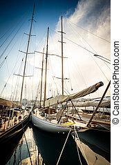 Beautiful yacht port