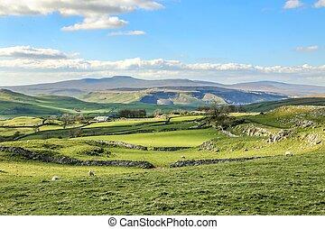 Beautiful yorkshire dales landscape stunning scenery england tourism uk green rolling hills