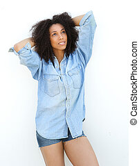 Beautiful young african american woman