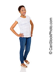 young african american woman standing