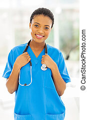 young african female nurse