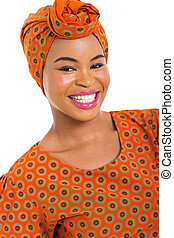 african woman close up