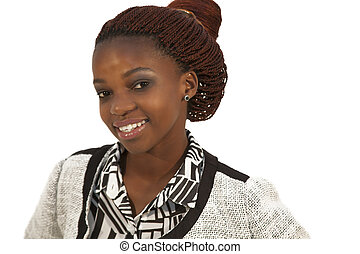 beautiful young African woman portrait