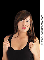 Beautiful Young Asian American Teen Girl Portrait