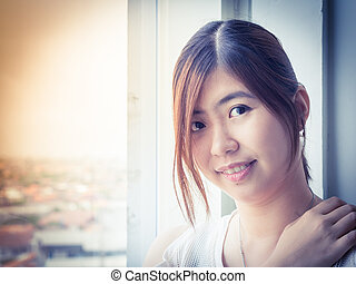 Beautiful Young Asian - Chinese Woman Smiling