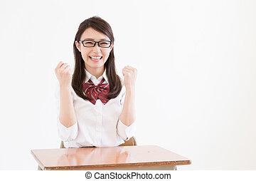 school girl - Beautiful young asian school girl