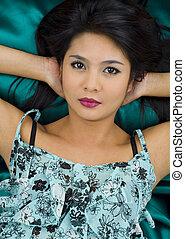 beautiful, young asian woman
