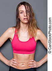 Beautiful young athletic woman
