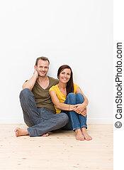 Beautiful young barefoot couple