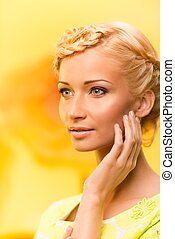 Beautiful young blond woman portrait