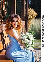 Beautiful young bridesmaid