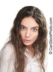 Beautiful young brunette girl