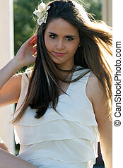 Beautiful Young Brunette Outdoors (2)