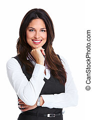 Beautiful young business woman. - Portrait of happy young ...